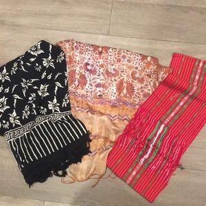 Indonesian three scarf bundle